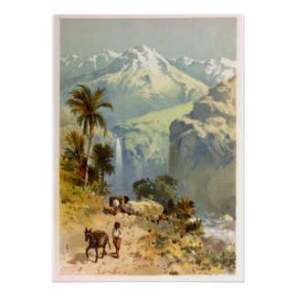 The Andes Mountains 1885 Print