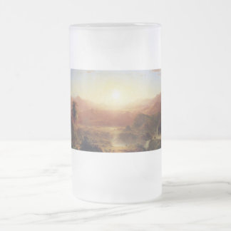 The Andes of Ecuador by Frederick Edwin Church Frosted Glass Beer Mug