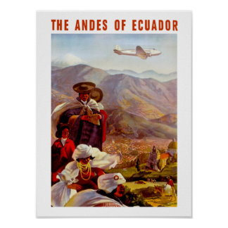 The Andes of Ecuador Poster
