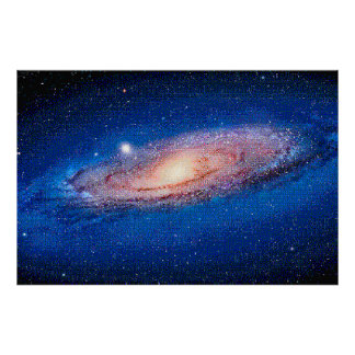 The Andromeda Galaxy for NES, Pixel Art Poster