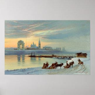 The Angara Embankment in Irkutsk, 1886 Poster