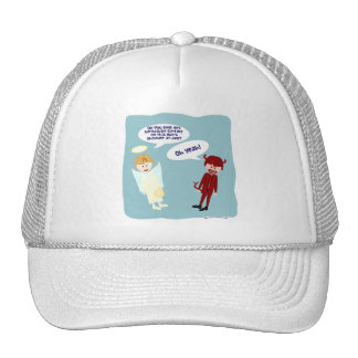 The Angel and Devil on my Shoulder Trucker Hat