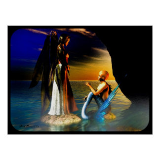 The Angel and The Mermaid Poster