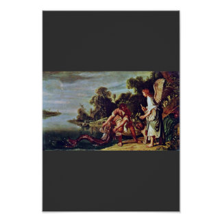 The Angel And Tobias With The Fish By Pieter Piete Print