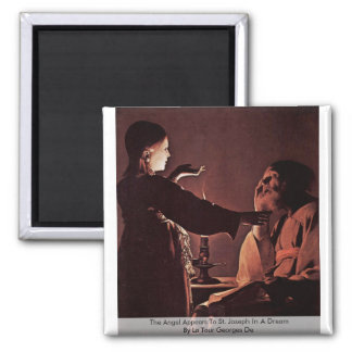 The Angel Appears To St. Joseph In A Dream 2 Inch Square Magnet