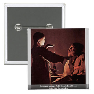 The Angel Appears To St. Joseph In A Dream 2 Inch Square Button