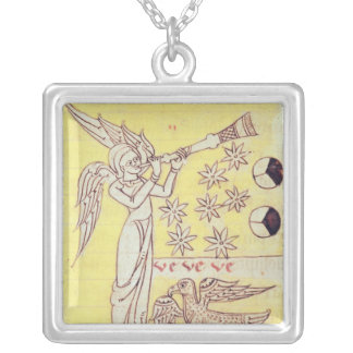 The Angel Blowing the Trumpet Square Pendant Necklace