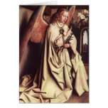 """The Angel of Annunciation"" Art Greeting Card"