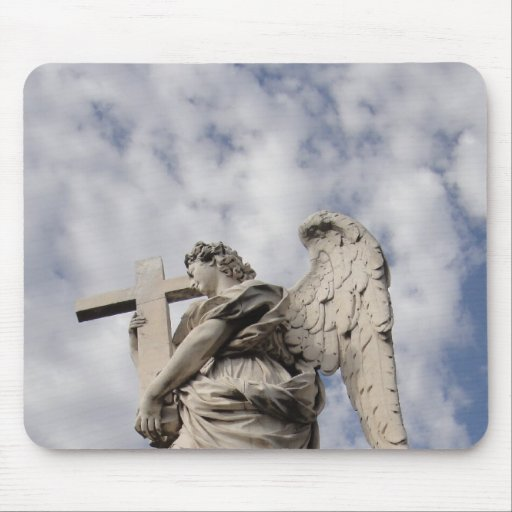 The angel of Castel Sant'Angelo Mouse Pad