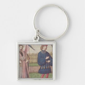 The Angel of Love appearing to a lover in garden Keychain