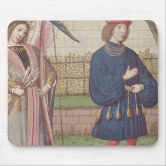 The Angel of Love appearing to a lover in garden Mouse Pad