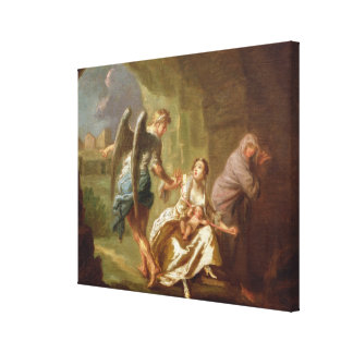 The Angel of Mercy, c.1746 (oil on canvas) Stretched Canvas Print