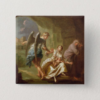 The Angel of Mercy, c.1746 (oil on canvas) Button