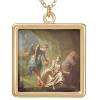 The Angel of Mercy, c.1746 (oil on canvas) Gold Plated Necklace