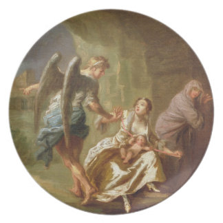 The Angel of Mercy, c.1746 (oil on canvas) Melamine Plate