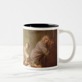 The Angel of Mercy, c.1746 (oil on canvas) Two-Tone Coffee Mug