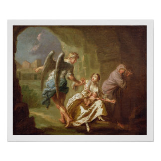 The Angel of Mercy, c.1746 (oil on canvas) Poster