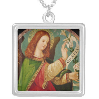 The Angel of the Annunciation Silver Plated Necklace
