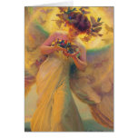 The Angel of the Birds Franz Dvorak 1910 Greeting Card