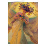 The angel of the birds greeting card