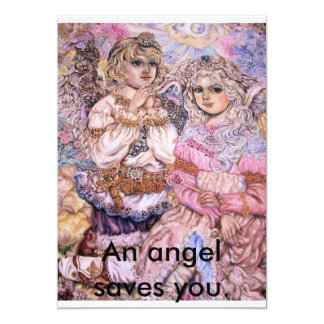 The angel of the flash of light., An angel save... Card