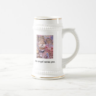 The angel of the flash of light An angel save Coffee Mug