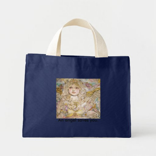The angel of the Golden pearl., An angel saves ... Canvas Bag