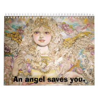 The angel of the Golden pearl., An angel saves ... Calendar