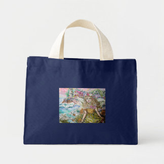 The angel of the pearl shellfish. mini tote bag