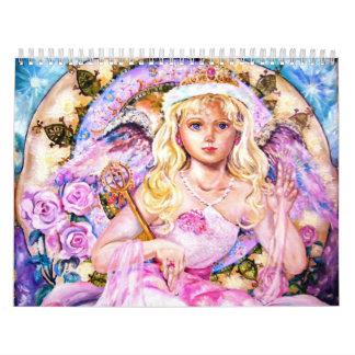 The angel of the rose quartz clock. calendar