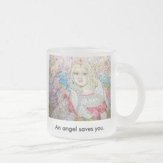 The angel of the ruby., The angel of the ruby.,... Frosted Glass Coffee Mug