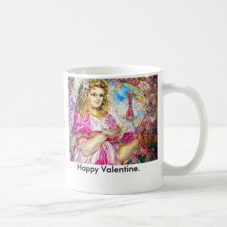 The angel of the sirloin quartz clock., Happy V... Coffee Mug