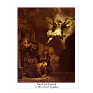 The Angel Raphael By Rembrandt Van Rijn Postcards