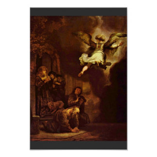 The Angel Raphael Leaving The Family Of Tobit. Posters