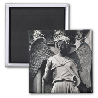 The Angel with a Smile 2 Inch Square Magnet