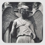 The Angel with a Smile Square Sticker