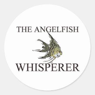 The Angelfish Whisperer Round Stickers