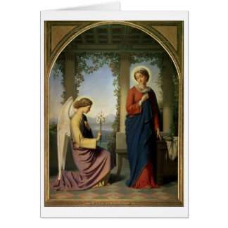 The Angelic Salutation, or The Annunciation, 1860 Greeting Card