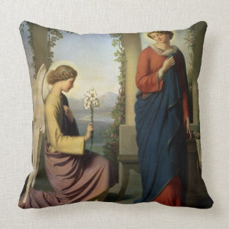 The Angelic Salutation, or The Annunciation, 1860 Throw Pillow