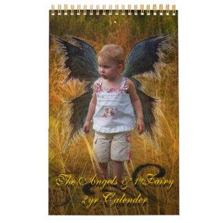 The Angels & 1 Fairy, 2yr Calender Wall Calendar