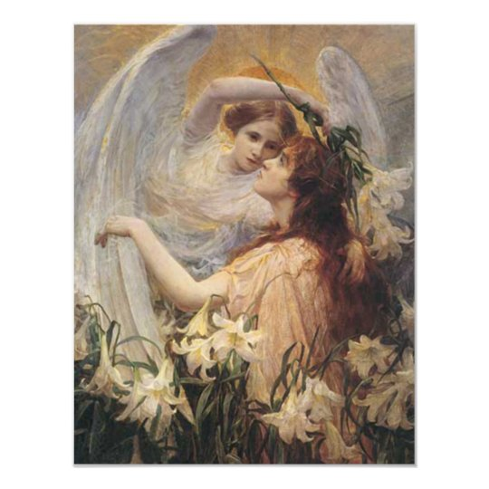 *The Angel's Message* by George Hillyard Swinstead Card