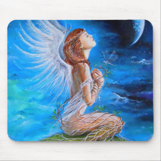 The Angel's Prayer Mouse Pad