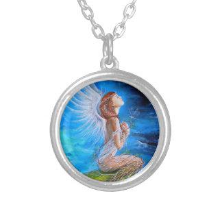 The Angel's Prayer Round Pendant Necklace