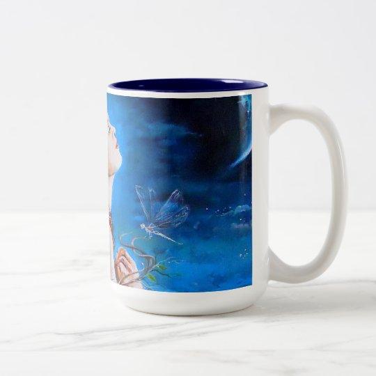 The Angel's Prayer Two-Tone Coffee Mug