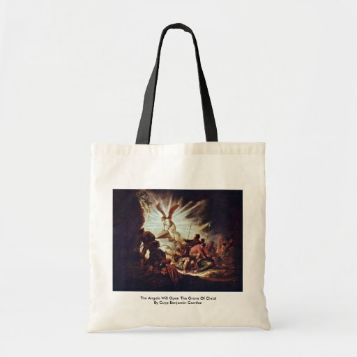 The Angels Will Open The Grave Of Christ Canvas Bag