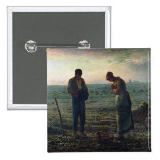 The Angelus, 1857-59 2 Inch Square Button