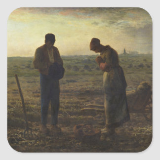 The Angelus by Jean-François Millet Square Sticker