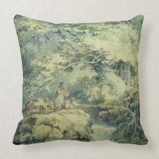 The Angler, 1794 (w/c over graphite on paper) Throw Pillows