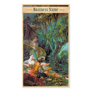 The Angler  Boucher Francois rococo scene painting Business Card