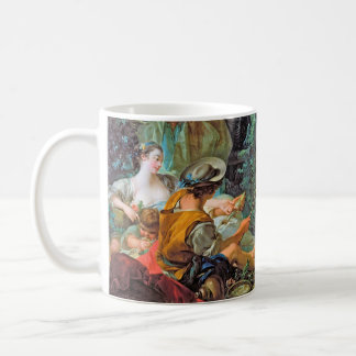 The Angler  Boucher Francois rococo scene painting Coffee Mug